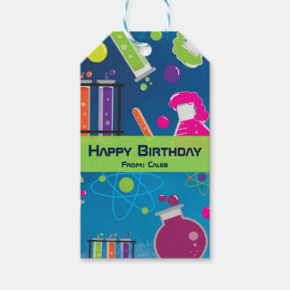 Mad Science Scientist Birthday Party Gift Tag