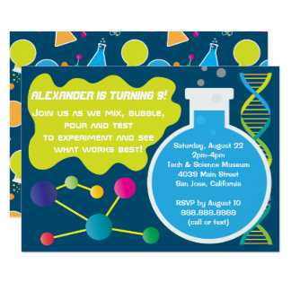 Science Birthday Party Invitations & Announcements ...