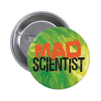 Mad Scientist 6 Cm Round Badge