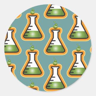 Mad Scientist Beakers Round Sticker
