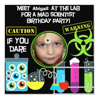 Mad Scientist Birthday Party Invitations