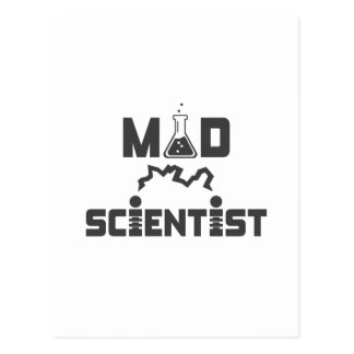 Mad Scientist Electric Science Beaker Postcard