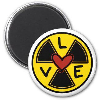 mad scientist magnet. 6 cm round magnet