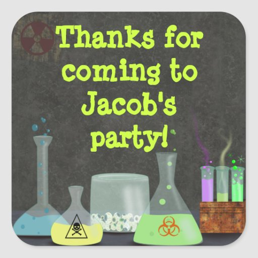Mad Scientist Party Stickers