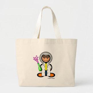 Mad scientist (plain) jumbo tote bag