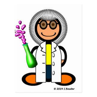 Mad scientist (plain) postcard