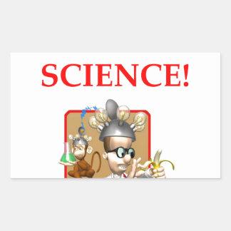 mad scientist rectangular sticker