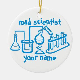 Mad Scientist Round Ceramic Decoration
