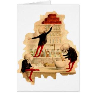 Mad Scientist Skeletons Card