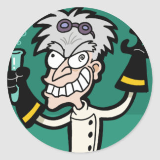 Mad Scientist Sticker
