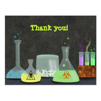 Mad Scientist Thank You Postcard