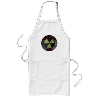 Mad Scientist Union Logo with Radioactive Symbol Long Apron