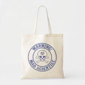 Mad Scientist Warning Tote Bag