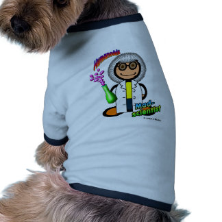 Mad Scientist (with logos) Dog T Shirt