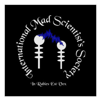 Mad Scientist's Society Poster