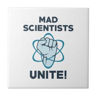 Mad Scientists Unite Ceramic Tile