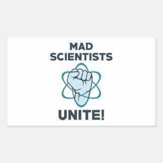 Mad Scientists Unite Rectangular Sticker