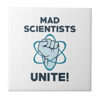 Mad Scientists Unite Small Square Tile
