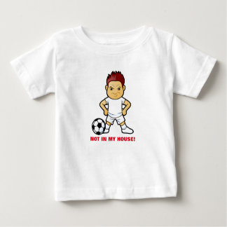 Mad Soccer Player on Baby T-Shirt
