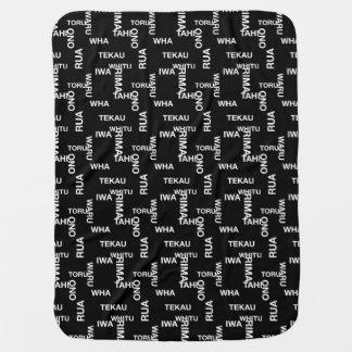 MAD TAHI-TEKAU Black Baby Blanket