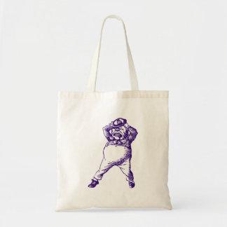 Mad Tweedle Dee Inked Purple Canvas Bags
