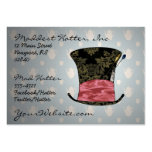 'Mad Victorian' Profile Card Pack Of Chubby Business Cards