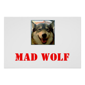 mad wolf poster