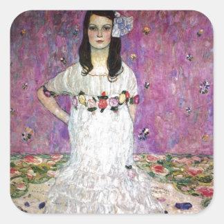 Mada Primavesi by Gustav Klimt Square Sticker