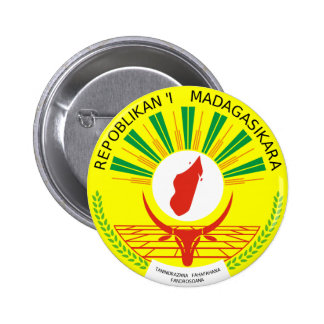 Madagascar Coat Of Arms 6 Cm Round Badge