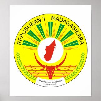 Madagascar Coat Of Arms Print
