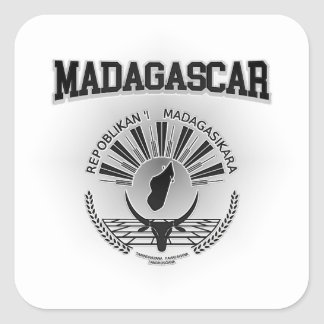 Madagascar Coat of Arms Square Sticker