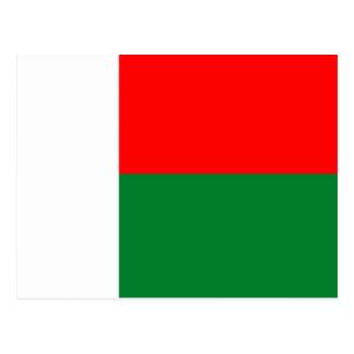 Madagascar country long flag nation symbol republi postcard