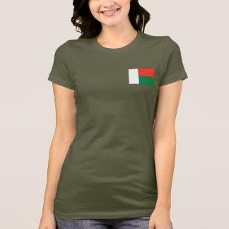Madagascar Flag and Map dk T-Shirt