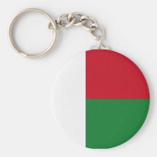 Madagascar flag basic round button key ring