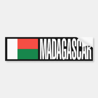 Madagascar Flag Bumper Sticker