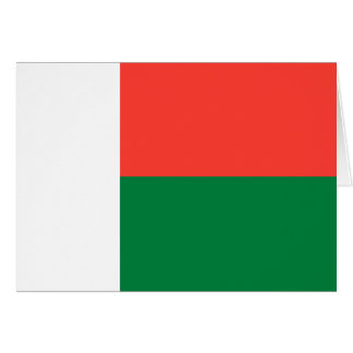 Madagascar Flag Note Card