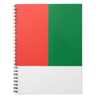Madagascar Flag Notebook