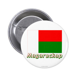 Madagascar Flag with name in Russian Buttons