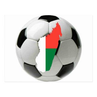 Madagascar football soccer postcard