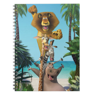 Madagascar Friends Support Spiral Note Books