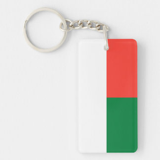 Madagascar National World Flag Double-Sided Rectangular Acrylic Key Ring