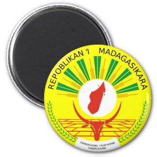 Madagascar Official Coat Of Arms Heraldry Symbol 6 Cm Round Magnet