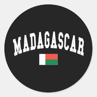 Madagascar Style Round Sticker