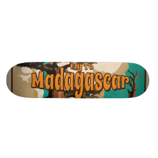 Madagascar Vintage Travel Poster Custom Skateboard