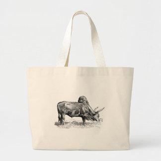 Madagascar Zebu Large Tote Bag