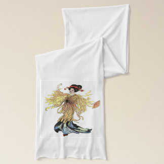 Madam Butterfly white Scarf