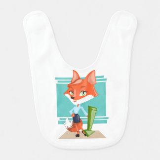 Madam foxy baby bib