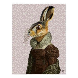 Madam Hare Postcard