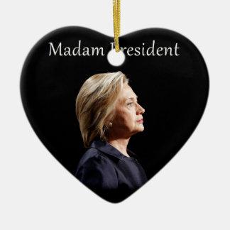 Madam President Style 2 Ceramic Ornament