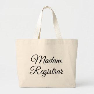 Madam Registrar Jumbo Tote Bag